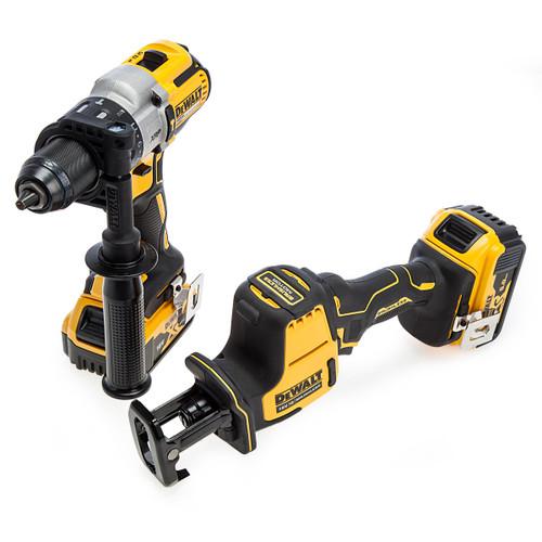 Dewalt 18V XR Combi Drill & Reciprocating Saw Twin Pack (2 x 5.0Ah Batteries) 1