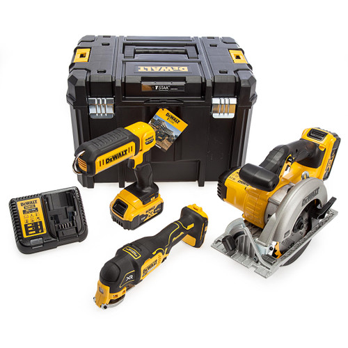 Dewalt 18V XR Circular Saw, Multi Tool & Torch 3 Piece Kit (2 x 5.0Ah Batteries) 5