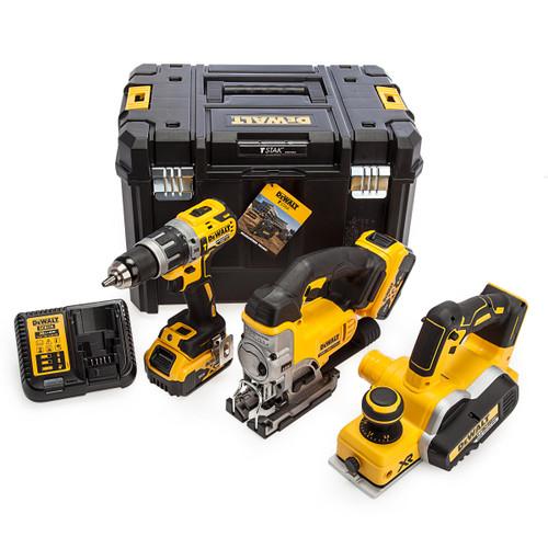 Dewalt 18V XR Combi Drill, Jigsaw & Planer 3 Piece Kit (2 x 5.0Ah Batteries) 5