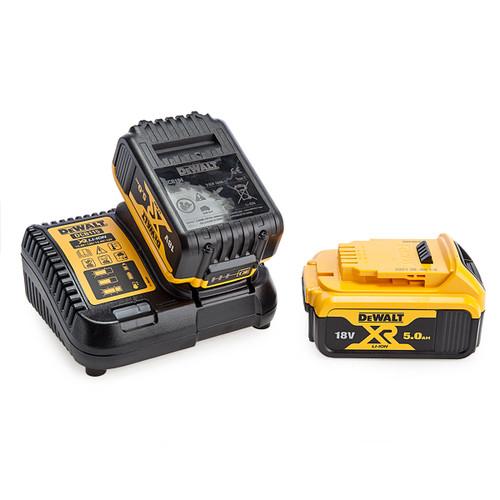 Dewalt DCB115 Multi Voltage XR Charger + 2 x DCB184 18V 5.0Ah Batteries 1