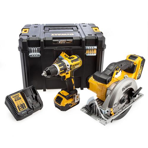 Dewalt 18V XR DCD795 Combi Drill & Circular Saw Twin Pack (2 x 5.0Ah Batteries) 4
