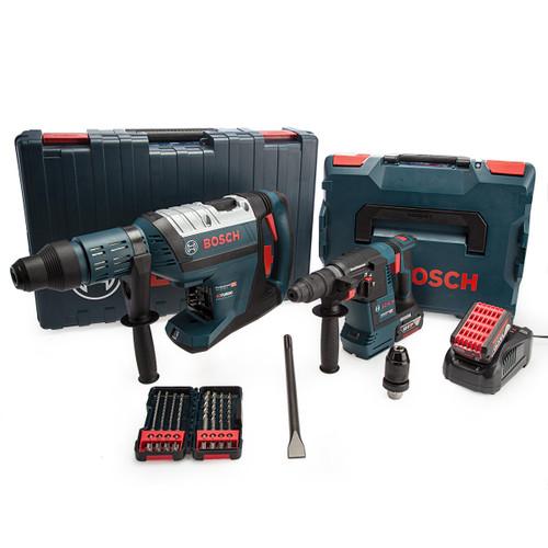Bosch 18V Heavy Duty SDS Plus & SDS Max Twin Pack (2 x 6.0Ah Batteries) 4