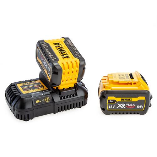 Dewalt DCB116 Single Port Charger + 2 x DCB546 6Ah Batteries 1
