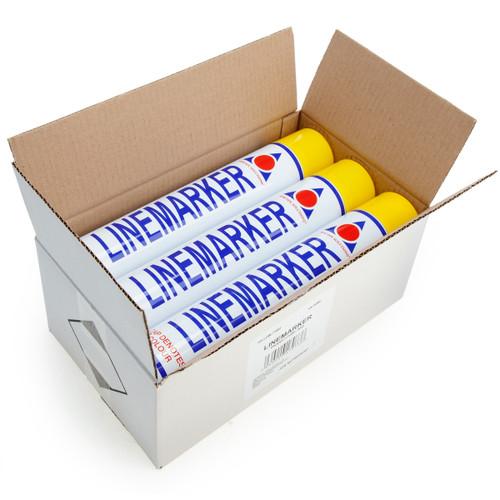 Aerosol Solutions 0900-6 Semi-Permanent Linemarker Paint in Yellow 750ml (Box of 6)