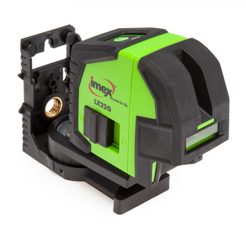Imex LX22G Cross Line Plumb Green Laser Level with Magnetic Bracket in Case