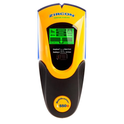 Zircon L550C MultiScanner, Studs, Metal, and Live AC Wiring Detector