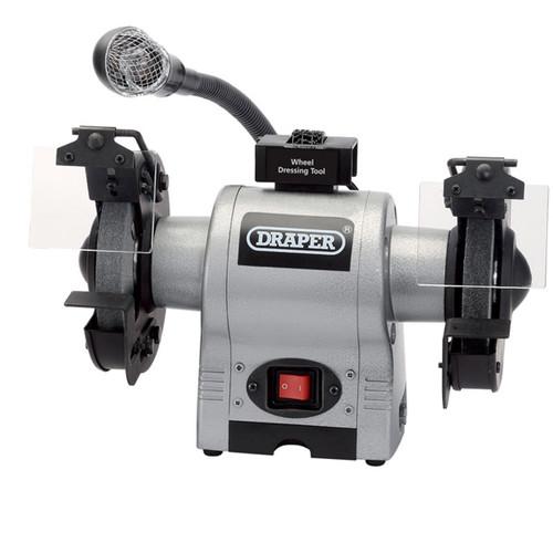 Draper 05095 150mm Bench Grinder with Work Light 370W