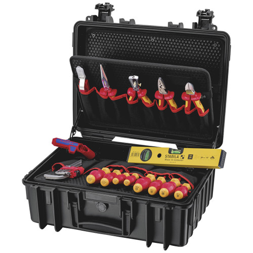 """Knipex 002134HLS2 Tool Case """"Robust23 Start"""" Electric (24 Piece)"""