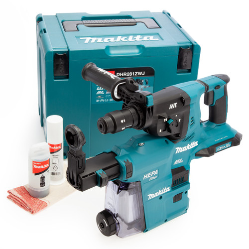 Makita DHR281ZWJ 36V LXT Rotary Hammer + DX09 (Body Only) Accepts 2 x 18V Batteries