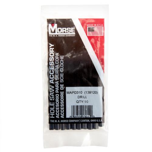Morse MAPD310 (139120) HSS Pilot Drills 78.6mm x 6.5mm (Pack of 10)