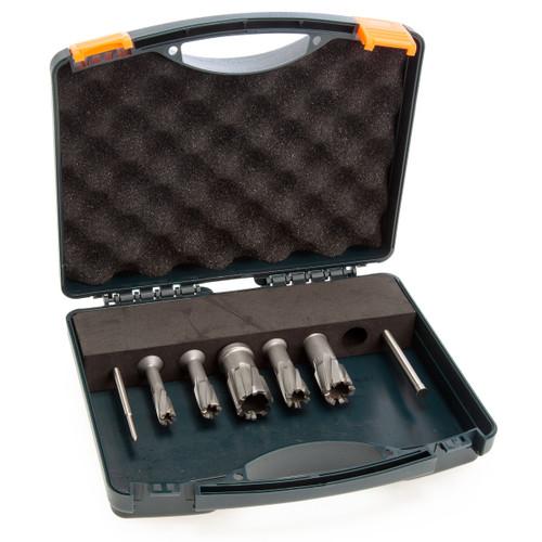 HMT 108030-5SET CarbideMax 40 TCT Magnet Broach Cutter Set (5 Piece)