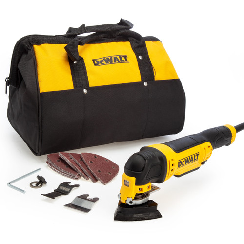 Dewalt DWE315B Multi Tool with Tool-Less Accessory Change, 27 Accessories & Bag (240V)