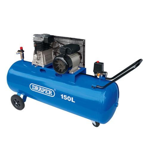 Draper 55305 Belt-Driven Air Compressor 150L 2.2kW