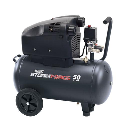 Draper 81710 Twin Cylinder Air Compressor 50L 1.8kW