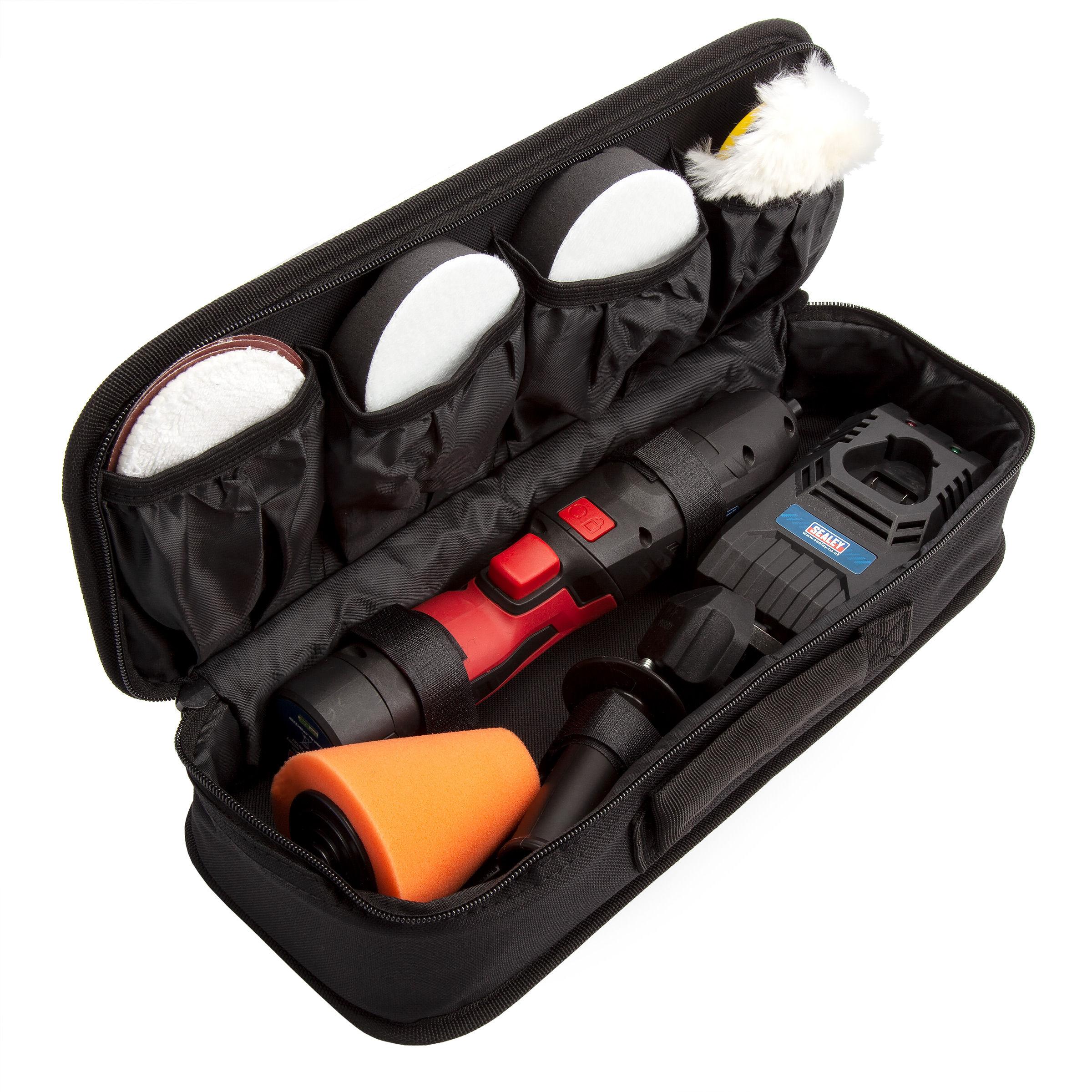 Sealey 10.8V Cordless Mini Sander//Polisher Kit Polishing Sanding