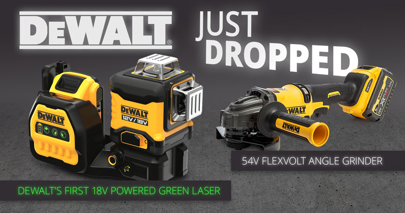 New Dewalt Products Just Landed