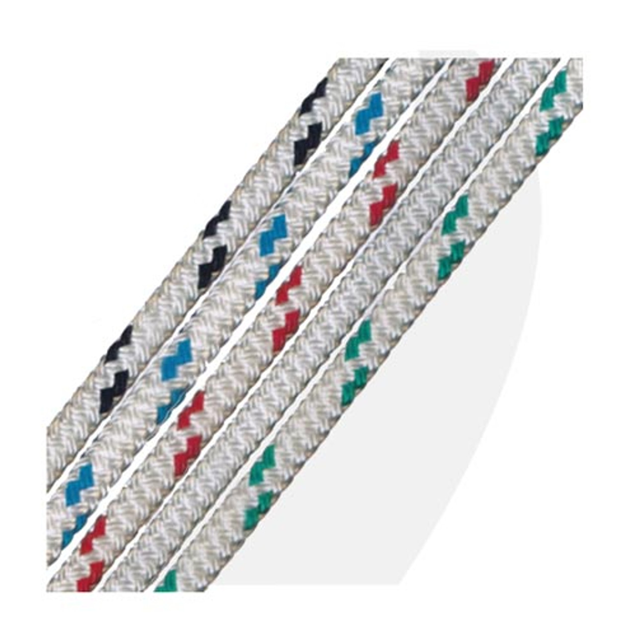 "per  foot 7//16/""  Regatta Braid Rope White Polyester Single Braid Rope"