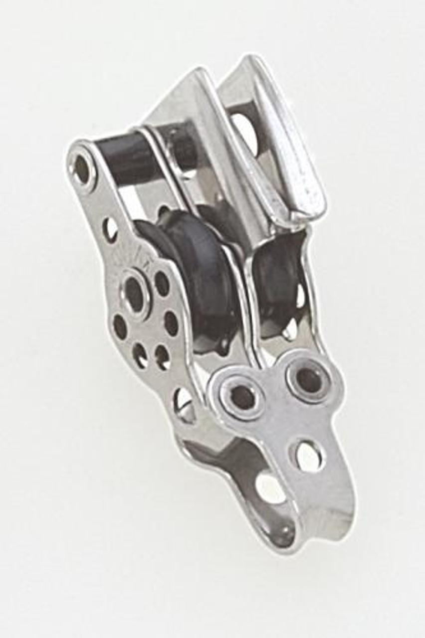 "11//16/"" Double Stainless Steel Micro Block w//Vee Jam /& Becket Viadana 17mm"