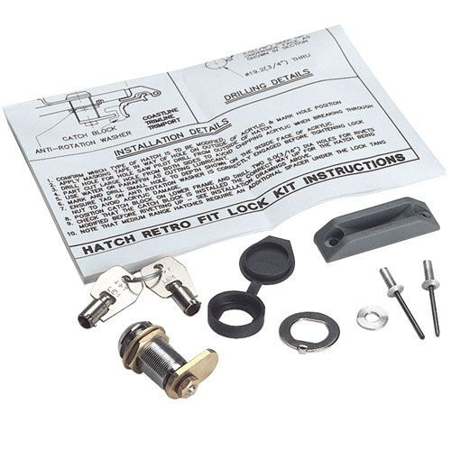 Lewmar Hatch Lock & Key Kit