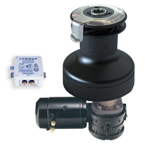 Lewmar 50EST EVO Electric Winch Kit 12V Alloy Black with ELS Control