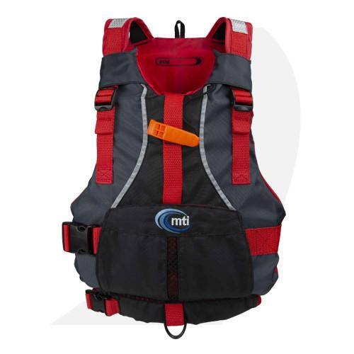 MTI Lifejacket Bob, Dark Gray/Black/Red, Youth (50-90 lb) 250D-0KA00 Front View