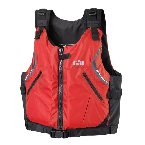 Gill Front Zip Buoyancy Aid USCG Approved Red/Black