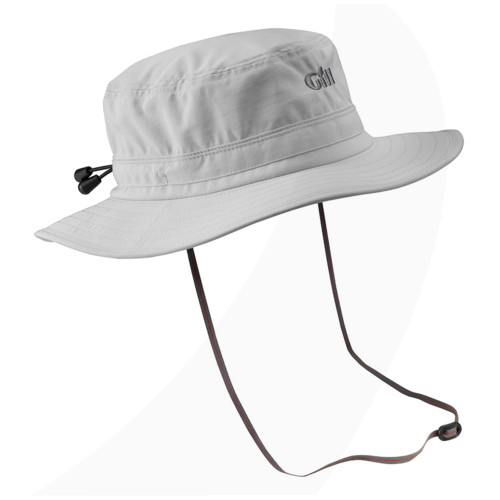 Gill Technical UV Sun Hat with hat retainer Silver Gray medium