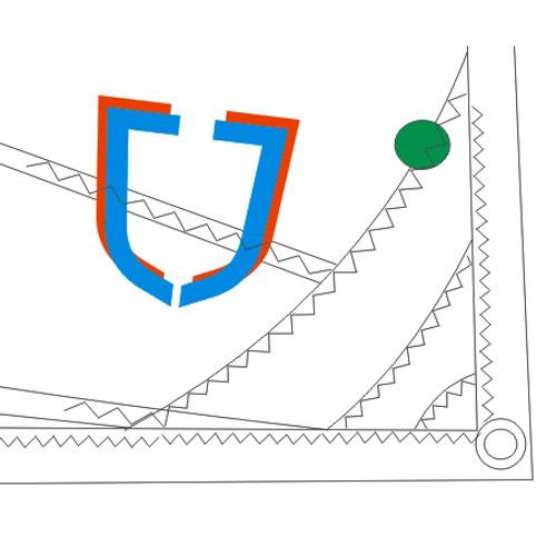 J Sail Optimist Green for Skippers up to 35 kgs / 77 lbs. (JSAILGRN)