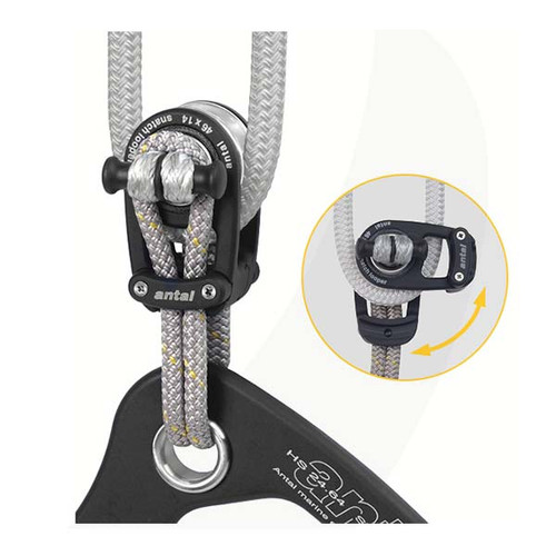 Antal 46mm Snatch Block w/ Dyneema Loop SWL2200 Kg.