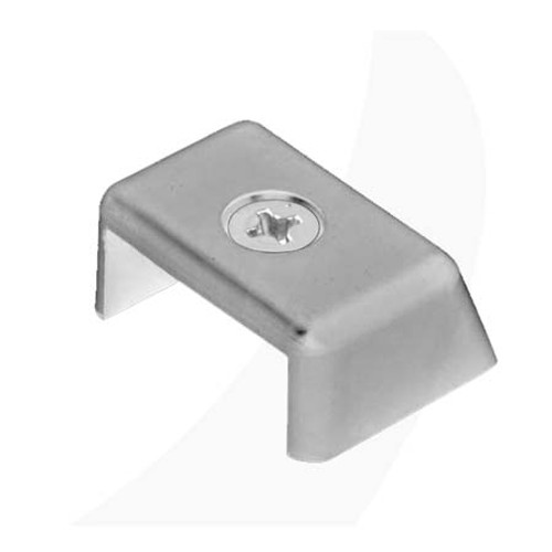 Antal 40X8 T-Track End Fitting Simple Clear Aluminum