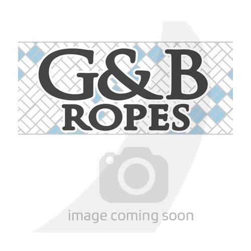 "G&B Ropes White Rainbow Braid 3/16"""