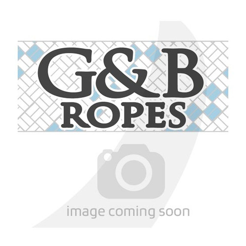 "G&B Ropes White Rainbow Braid 7/16"""