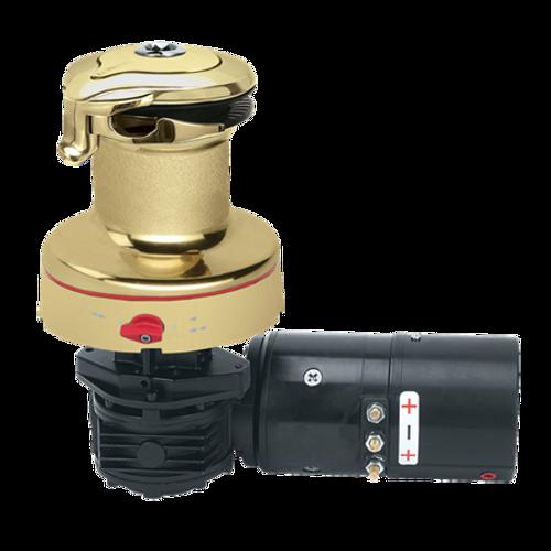 Harken Radial Rewind Electric Size 46 Polished Bronze Winch Horizontal 24 Volt DF Control Box