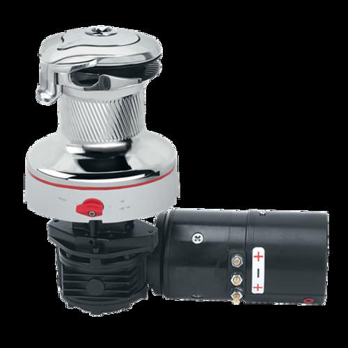 Harken Radial Rewind Electric Size 40 All Chrome Winch Horizontal 24 Volt DF Control Box