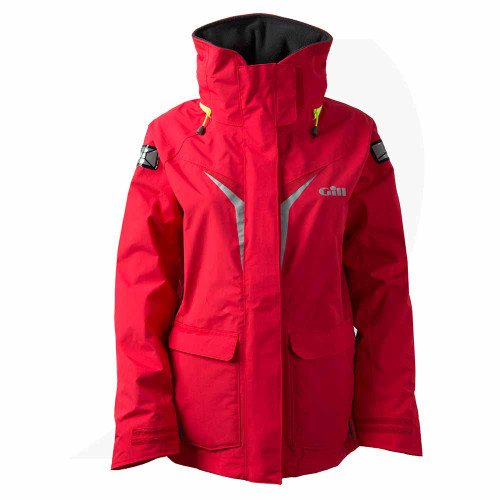 Gill OS3 Women's Coast Jacket Bright Red