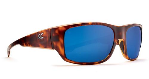 Kaenon Anacapa Matte Tortoise Polarized Pacific Blue Mirror Lens