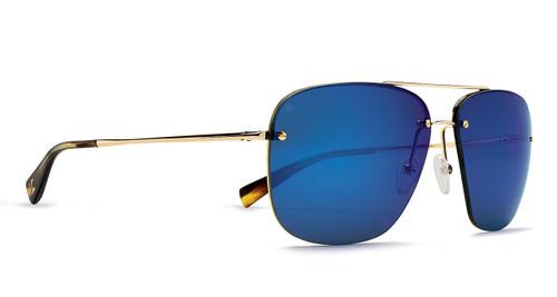 Kaenon Coronado Gold / Tortoise Polarized Pacific Blue Mirror Lens