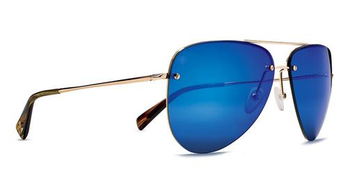 Kaenon Mather Gold / Tortoise Polarized Pacific Blue Mirror Lens