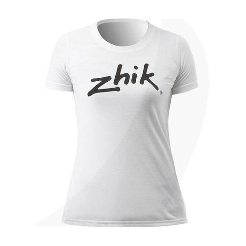 Zhik Womens Zhik Logo Cotton Tee White ATE-0730-W-WHT Front