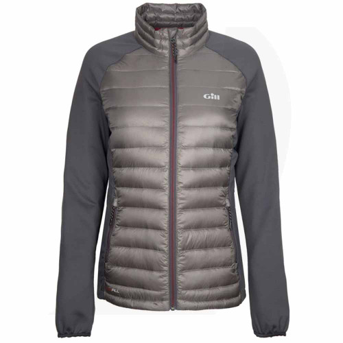 Gill Women's Hybrid Down Jacket Pewter 1064W Front View