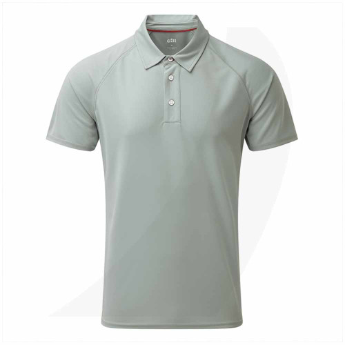 Gill Men's UV Tec Polo Grey UV008 Front