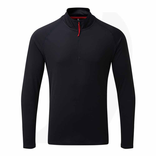 Gill Men's UV Tec Long Sleeve Zip Tee Navy UV009 Front