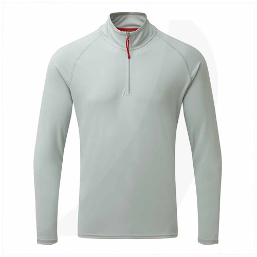 Gill Men's UV Tec Long Sleeve Zip Tee Grey UV009 Front