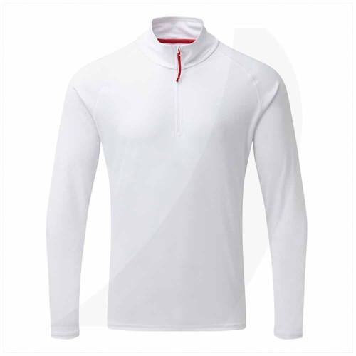 Gill Men's UV Tec Long Sleeve Zip Tee White UV009 Front