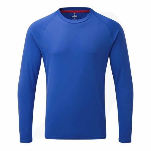 Gill Men's UV Tec Long Sleeve Tee Blue UV011 Front