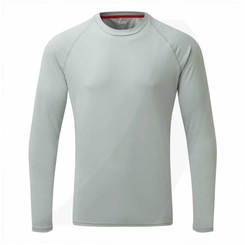 Gill Men's UV Tec Long Sleeve Tee Grey UV011 Front