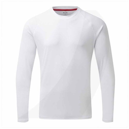 Gill Men's UV Tec Long Sleeve Tee White UV011 Front