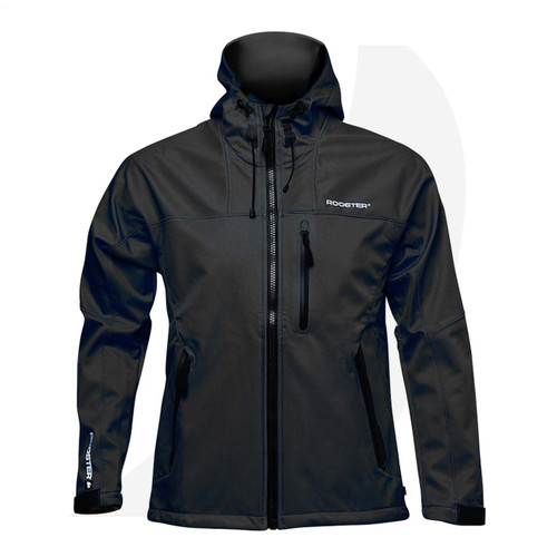 Rooster Soft Shell Jacket Black 106684 Front View