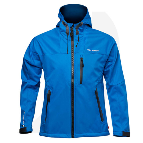 Rooster Soft Shell Jacket Blue 106684 Front View