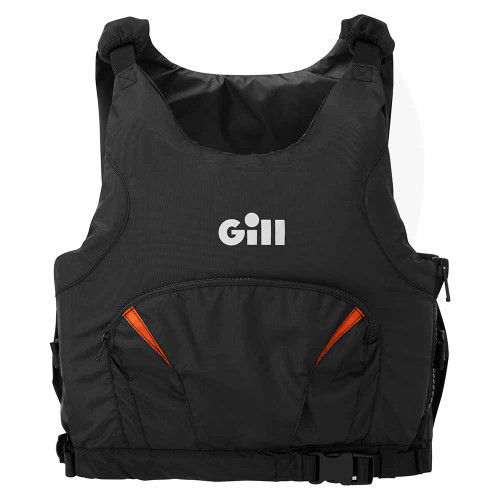 Gill Pro Racer Buoyancy Aid Black/Orange 4916 Front View